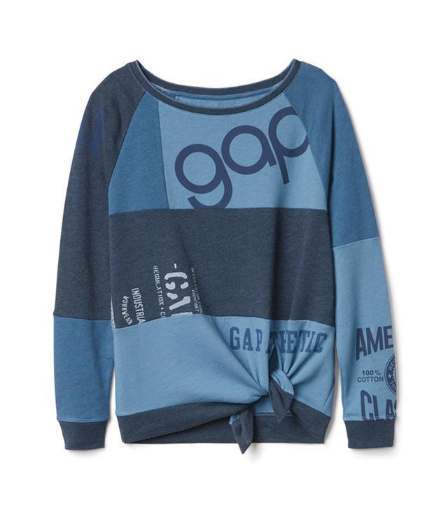 Gap Logo Remix Self-Tie Pullover Sweatshirt