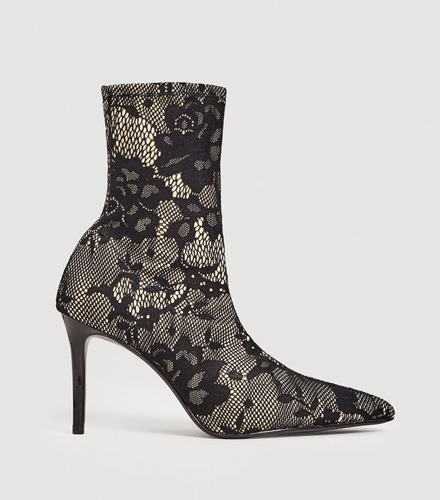 Lace sock boots
