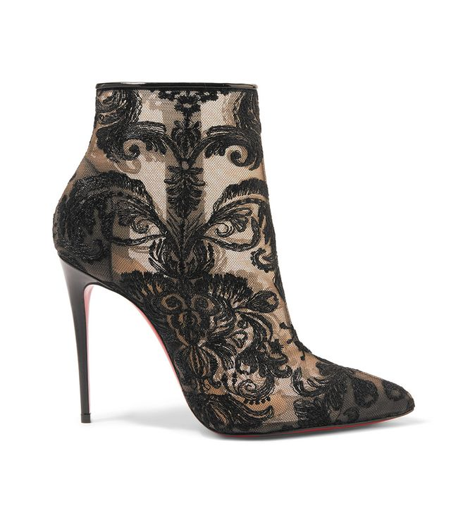 Gipsy 100 Guipure Lace Ankle Boots