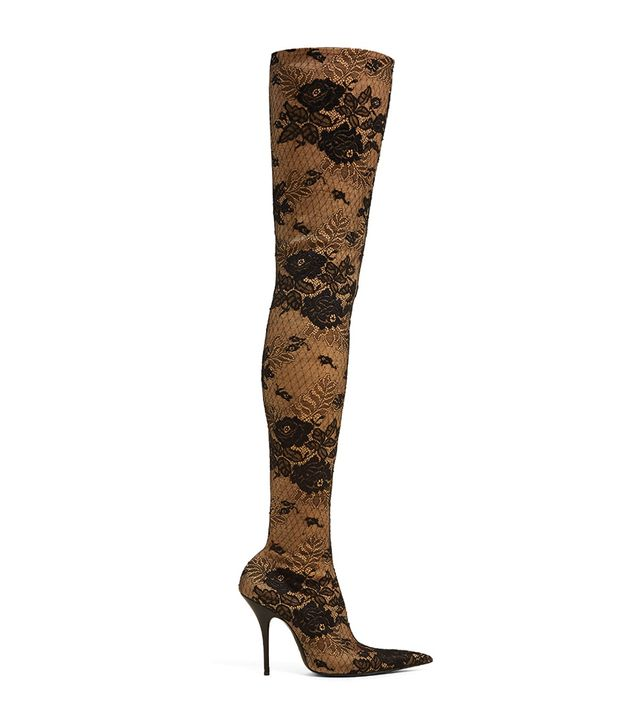 Knife lace over-the-knee boots