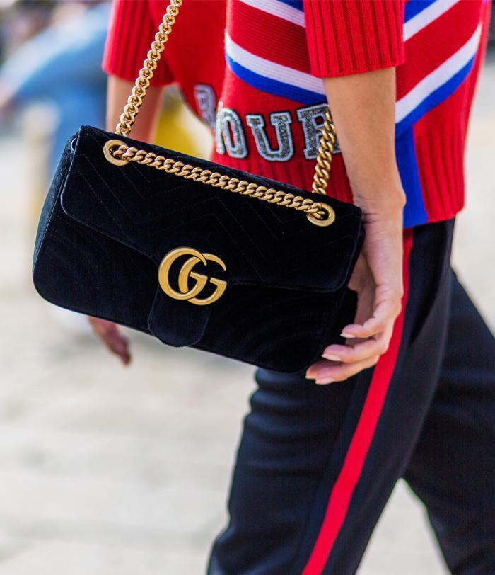 Gucci velvet Marmont bag: