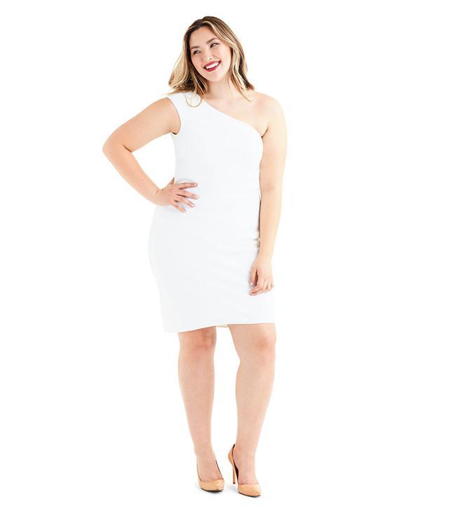 Marina Bulatkina Iceland White One Shoulder Dress