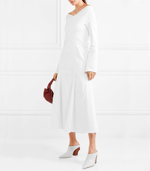 Prima Stretch Linen-blend Dress
