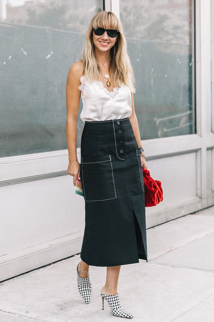 breathe new life into your black pencil skirt with these