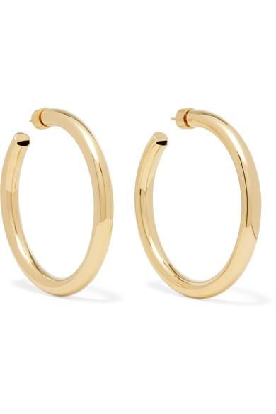 "Samira 2"" Gold-plated Hoop Earrings"