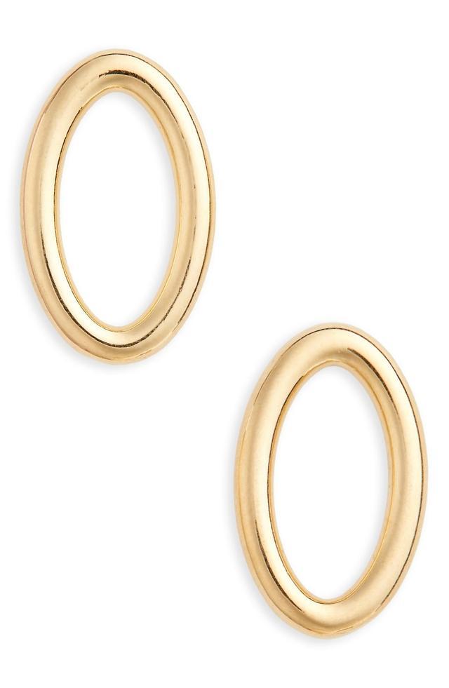Women's All Blues Small Ellipse Polished Earrings