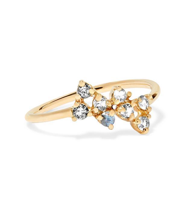 Bias 14-karat Gold Sapphire Ring