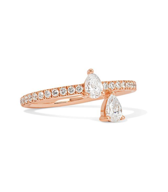 Princess 18-karat Rose Gold Diamond Ring