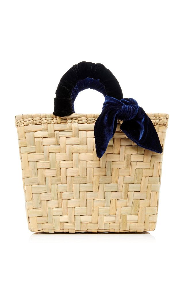Donni Charm M'O Exclusive Donni Straw and Velvet Basket Bag