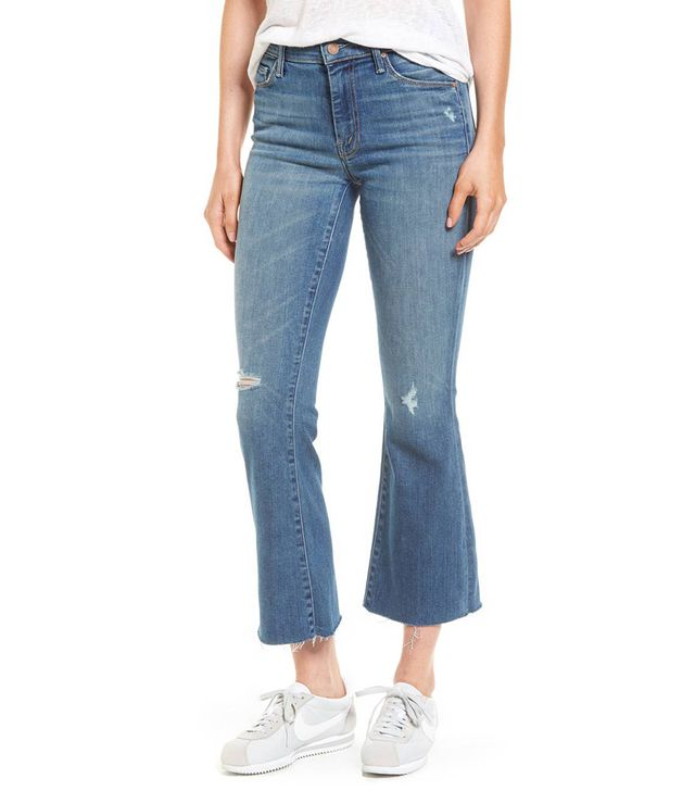 Women's Mother Frayed Ankle Jeans