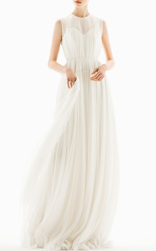 Delpozo Gathered Tulle Gown