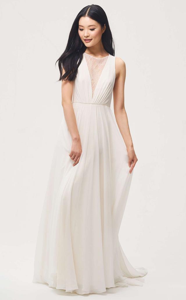 Fallon Lace & Chiffon A-Line Gown