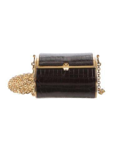 Judith Leiber Mini Alligator Crossbody Bag