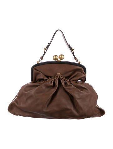 Marni Leather Kiss-Lock Frame Bag