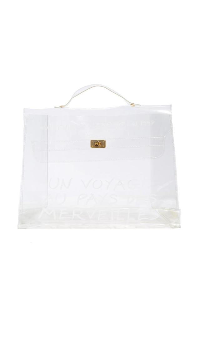 Hermès Clear Vinyl Kelly Satchel