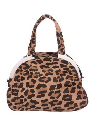 Marni Printed Pony Hair Handle Bag