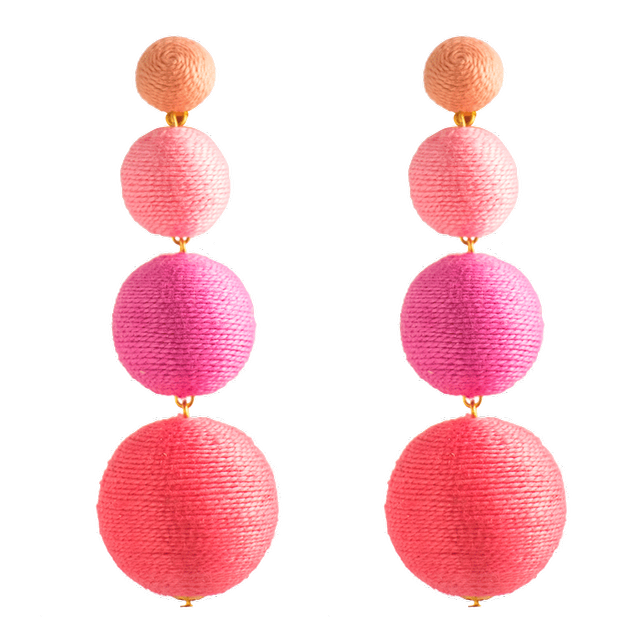 Kathleen Kedwell No. 25 Pink Ombre Four Drop Earrings