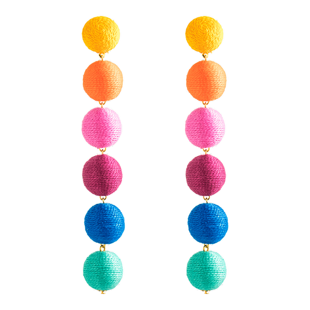 Kathleen Kedwell No. 29 Rainbow Six Drop Earring