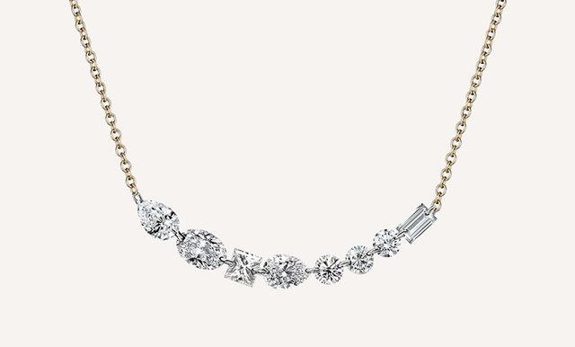 Ilana Ariel Long Floating Diamonds Necklace