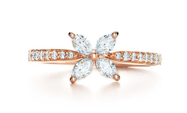 Tiffany Victoria Ring in 18K Rose Gold with Diamonds