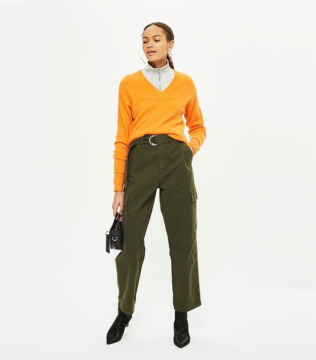 High Waisted Utility Trousers