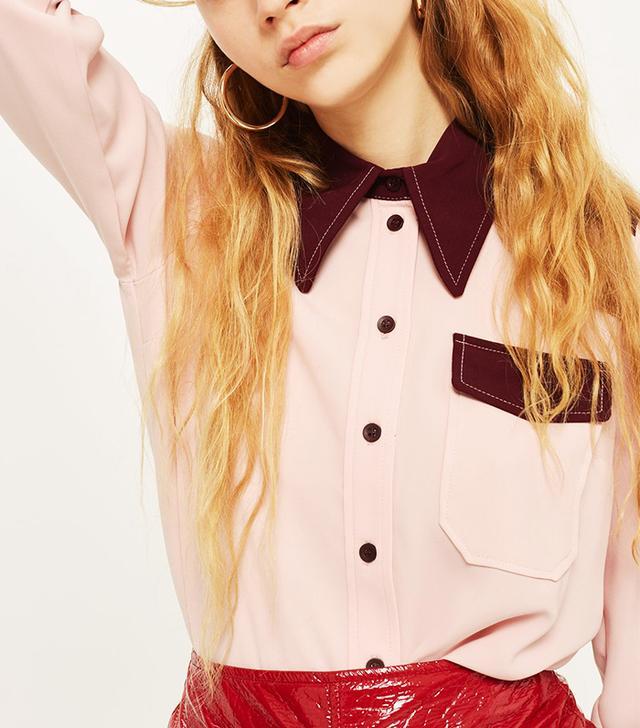 Colourblock Western Shirt