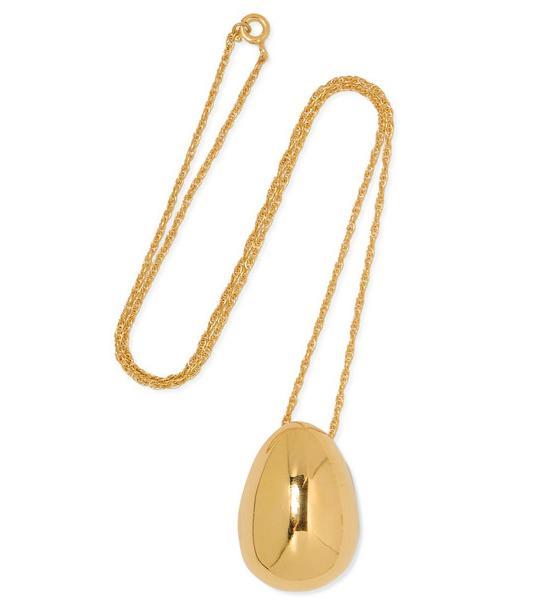 Egg Gold Vermeil Necklace