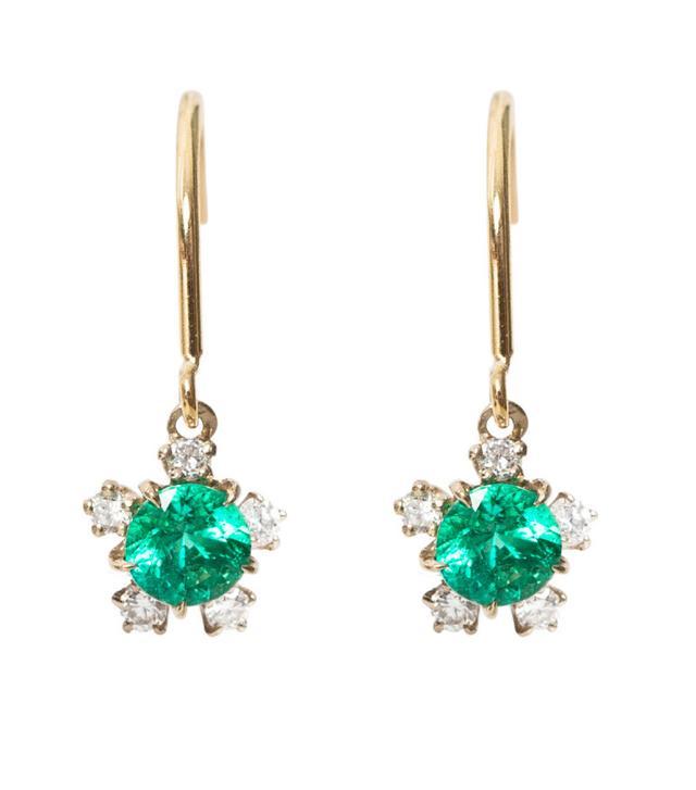Kataoka Juniper Emerald Earrings