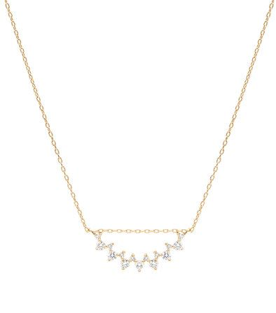 Everett Celine Staggered Diamond Pendant