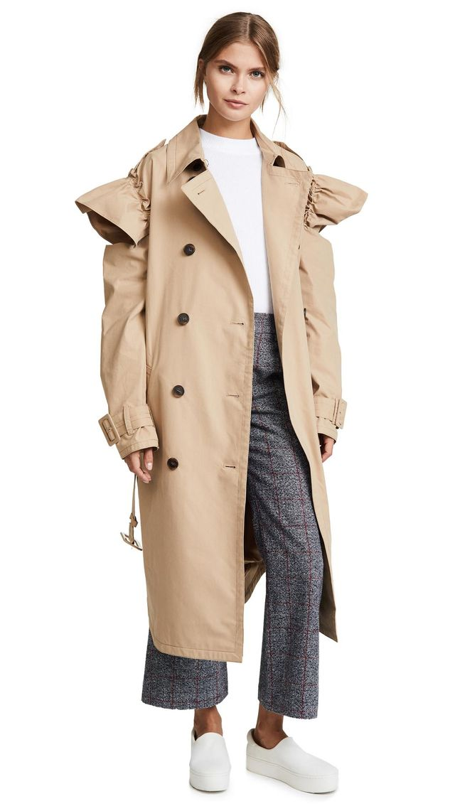 SJYP Ruffle Trench Coat