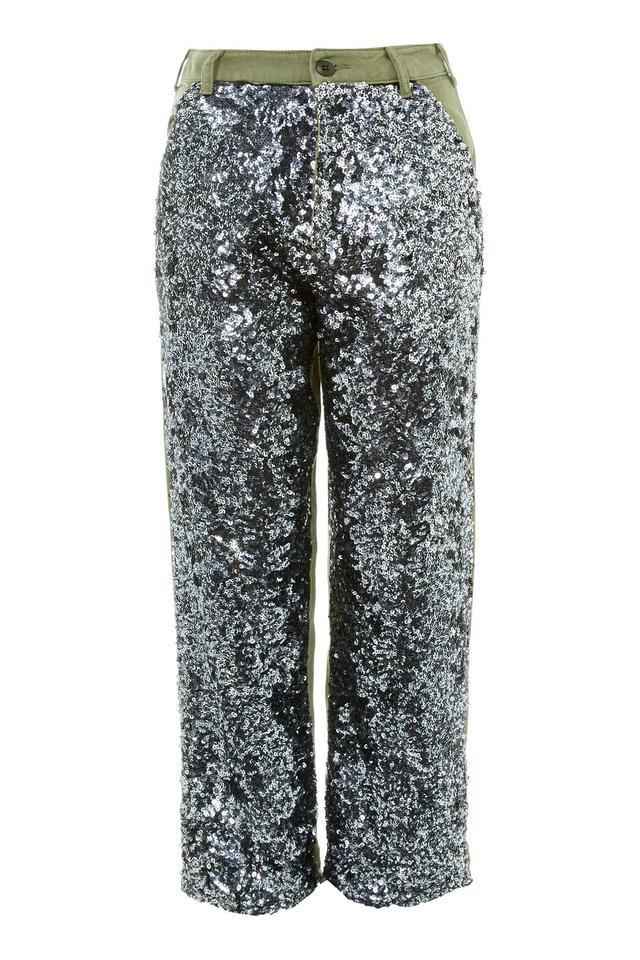 Topshop Sequin Utility Trouser