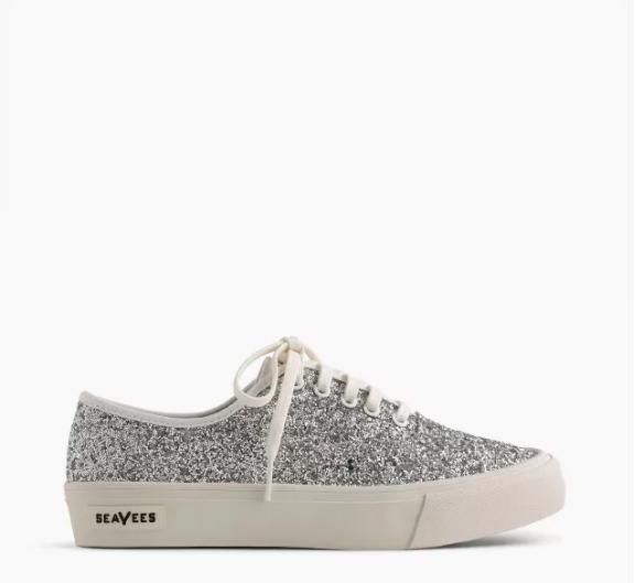 SeaVees x J.Crew Legend Sneakers in Glitter