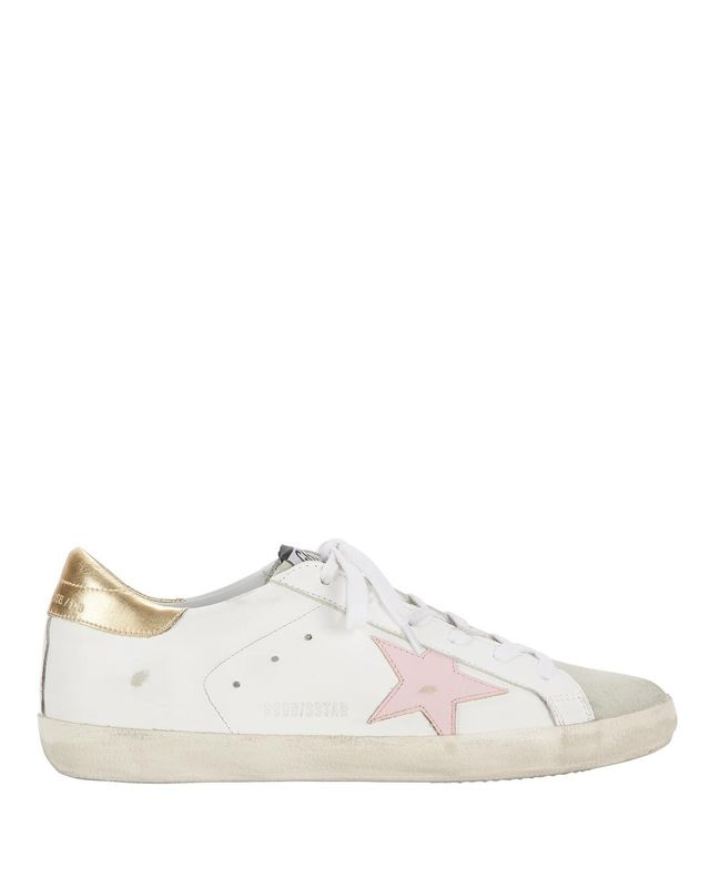 Golden Goose Superstar Pink Star Low-Top Sneakers
