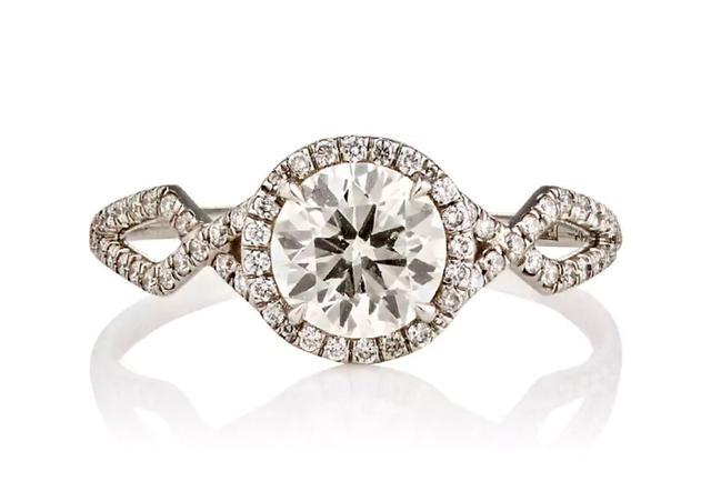 Women's Brilliant-Cut White Diamond Ring