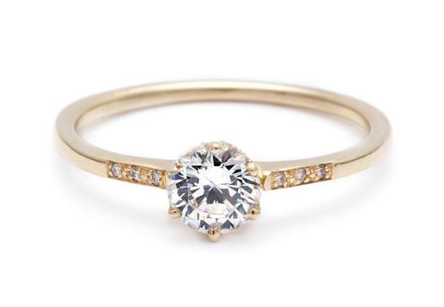 Anna Sheffield Hazeline Solitaire Ring