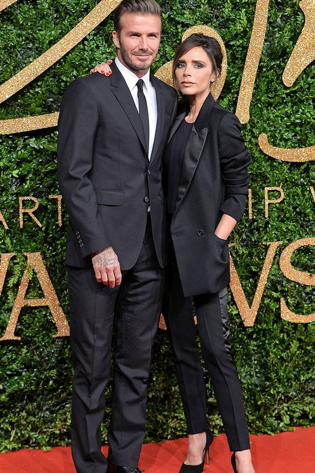 Just when we thought the Beckhams could not get any chicer, they step out in these matching tailored suits, showing up every other celebrity couple in attendance.