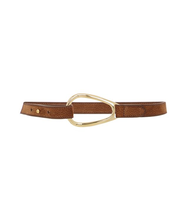 Oval Ring Leather Belt