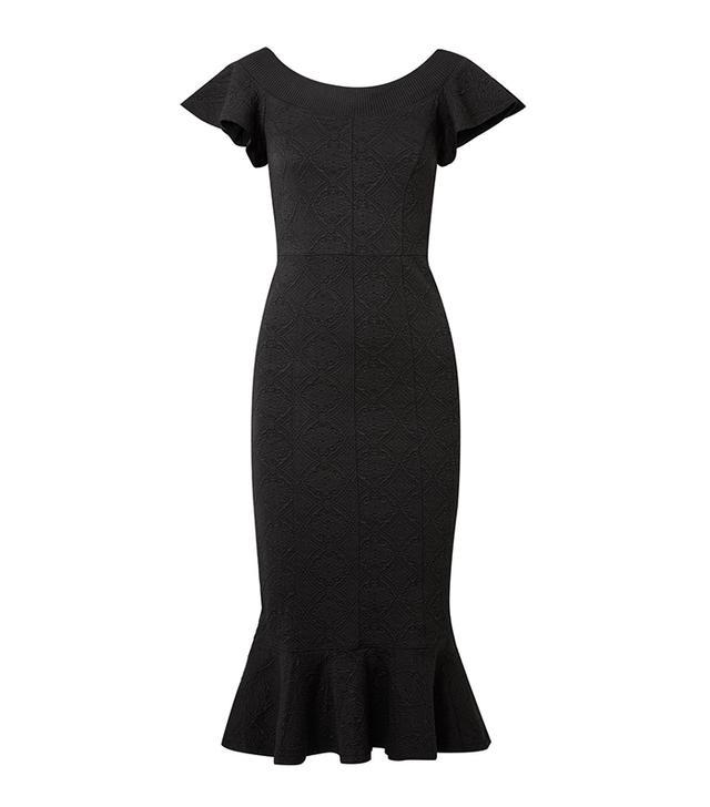 Lotus Jacquard Midi Dress