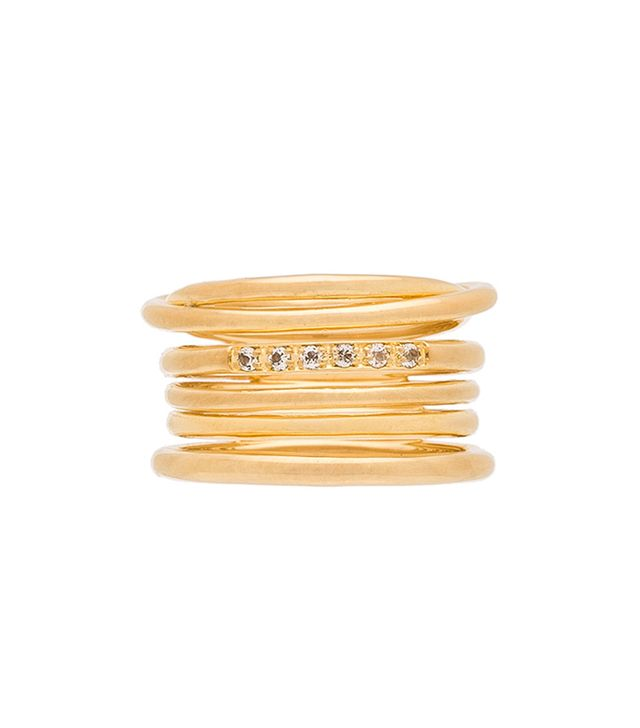 Roxy Ring in Metallic Gold. - size 6 (also in 7)
