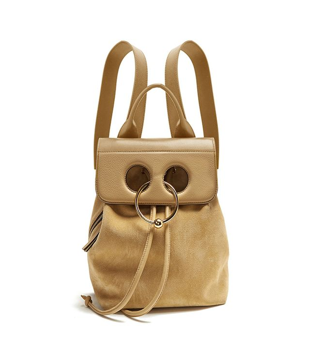 Pierce mini suede and leather backpack