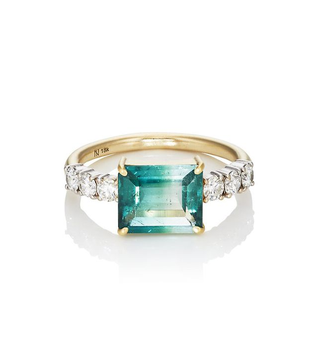 Irene Neuwirth Bi-Color Tourmaline & White Diamond Ring