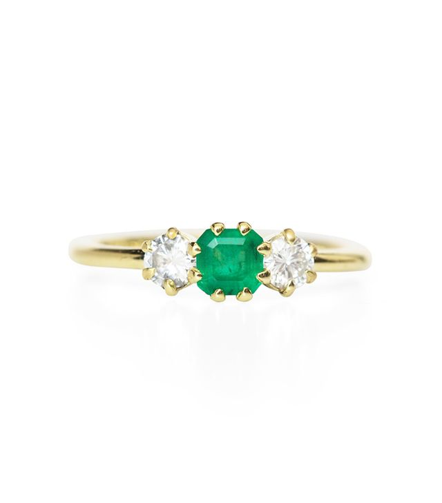 ILA Gramo Emerald And Diamond Ring