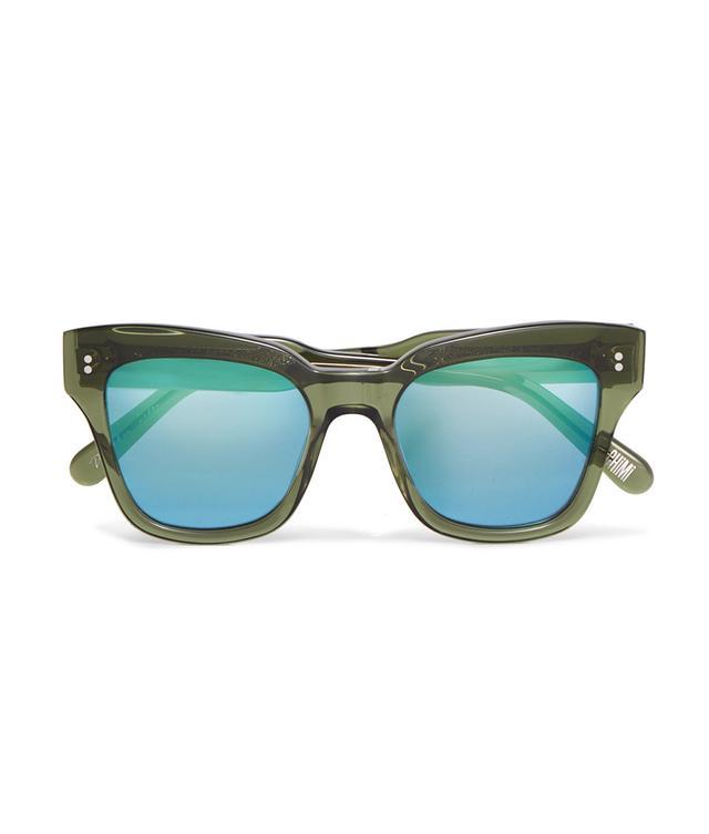 004 Cat-eye Acetate Mirrored Sunglasses