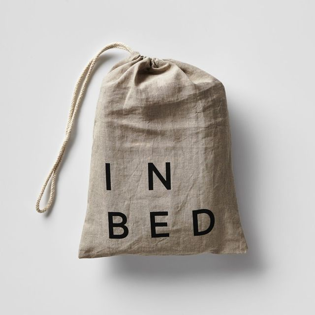 In Bed Linen Fitted Sheet in White