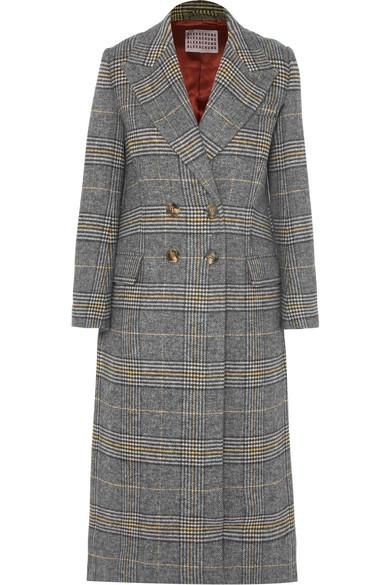Checked Tweed Coat