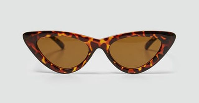 Zara Slim Cat's Eye Sunglasses in Red