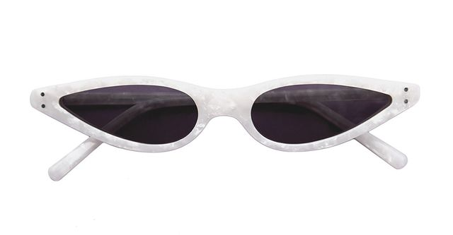George Keburia White Sunglasses