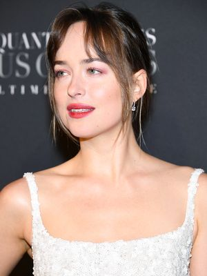 Dakota Johnson Wore a Very Bridal Look at the Fifty Shades Premiere in Paris