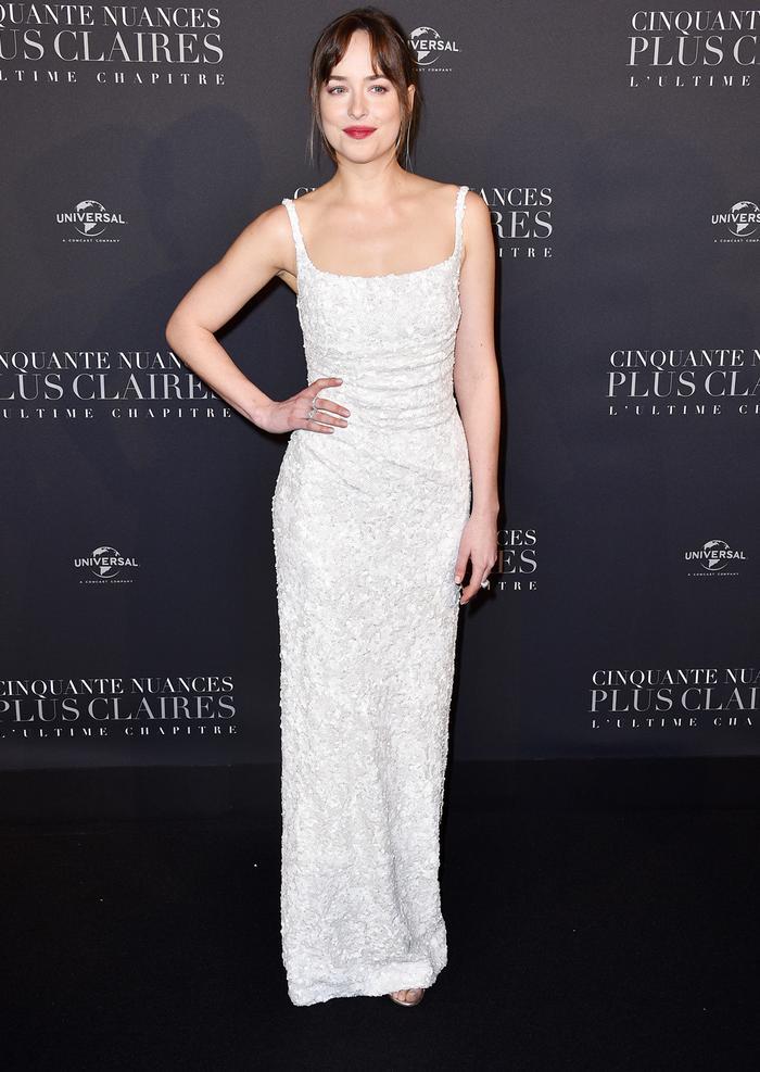 Dakota Johnson Fifty Shades Premiere in Paris Red Carpet