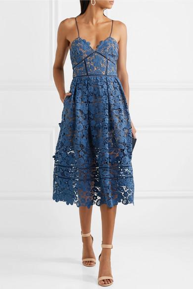 Azaelea Guipure Lace Midi Dress